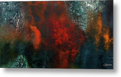 Metal Print featuring the painting Wonderland by Carmen Guedez