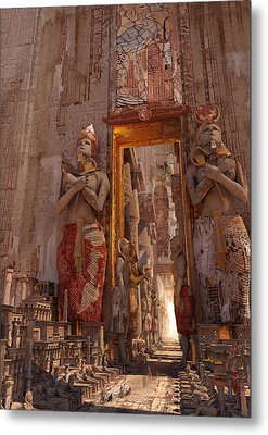 Metal Print featuring the digital art Wonders Door To The Luxor by Te Hu