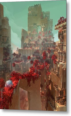 Wonders Hanging Garden Of Babylon Metal Print
