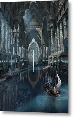 Metal Print featuring the digital art Wonders The Canal Of Isfahan by Te Hu