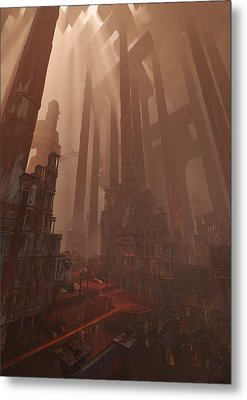 Wonders_temple Of Artmeis Metal Print