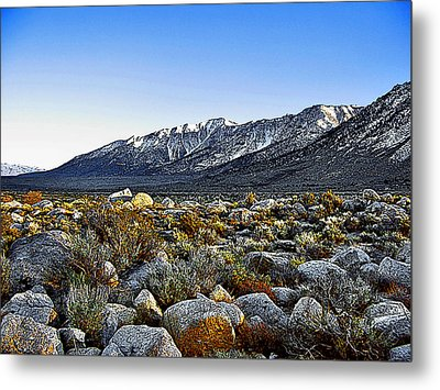 Metal Print featuring the painting Wonoga Peak by Larry Darnell