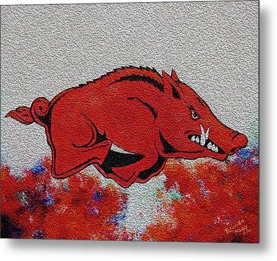 Woo Pig Sooie 2 Metal Print by Belinda Nagy