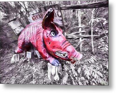 Woo Pig Sooie Digital Metal Print by JC Findley