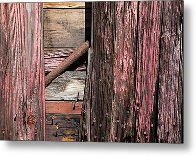 Metal Print featuring the photograph Wood And Rod by Karol Livote