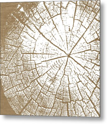 Wood And White- Art By Linda Woods Metal Print by Linda Woods