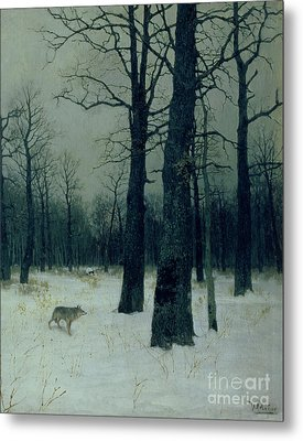 Wood In Winter Metal Print by Isaak Ilyic Levitan
