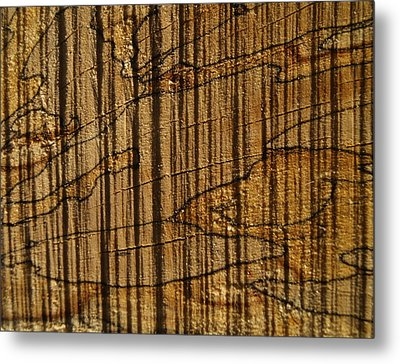 Wood Metal Print by Michael Canning