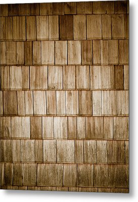 Wood Shingles Metal Print by Frank Tschakert