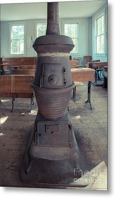 Wood Stove In An Old One Room School House Metal Print