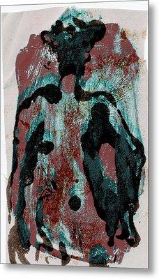 Woodblock 6 Metal Print by Noredin Morgan