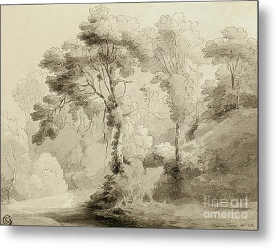 Wooded Landscape Metal Print by Francis Towne
