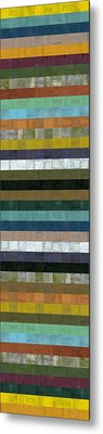Wooden Abstract Xl Metal Print by Michelle Calkins
