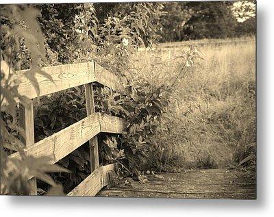 Wooden Bridge Metal Print