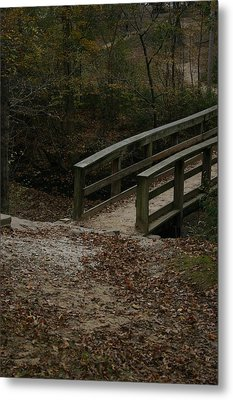 Metal Print featuring the photograph Wooden Bridge by Kim Henderson