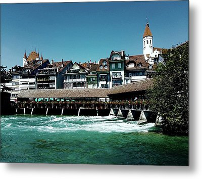 Metal Print featuring the photograph Wooden Bridge by Mimulux patricia no No