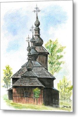 Wooden Church Metal Print by Jana Goode