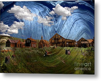 Wooden Ghost Town Metal Print by Ronald Hoggard