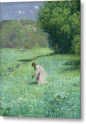 Woodland Meadow Metal Print by Hans Thoma