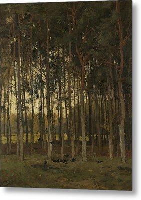 Woodland Scene Metal Print by Theophile de Bock