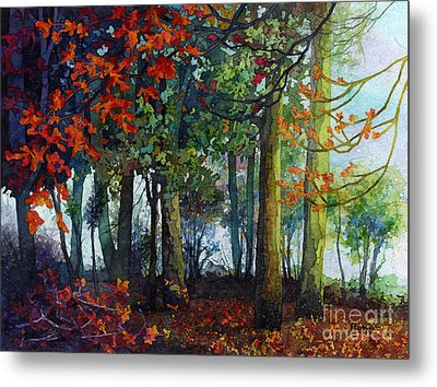 Metal Print featuring the painting Woodland Trail by Hailey E Herrera