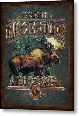 Woodlands Moose Metal Print by JQ Licensing