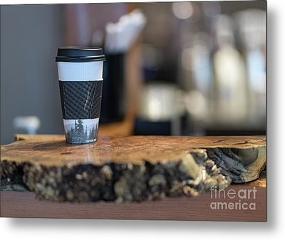Metal Print featuring the photograph Woods Coffee by Jim  Hatch