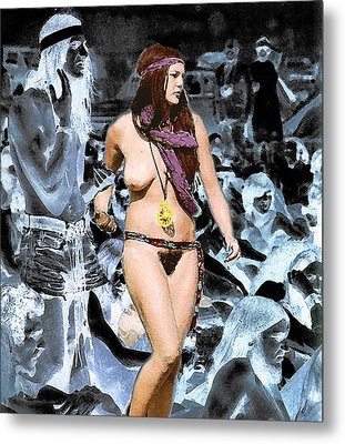 Woodstock Woman Metal Print