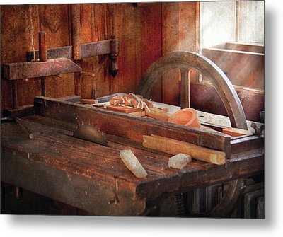 Woodworker - The Table Saw Metal Print by Mike Savad