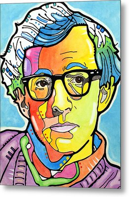 Metal Print featuring the painting Woody Allen by Dean Russo