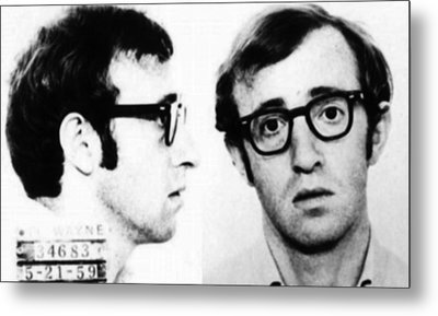Woody Allen Mug Shot For Film Character Virgil 1969 Metal Print by Tony Rubino
