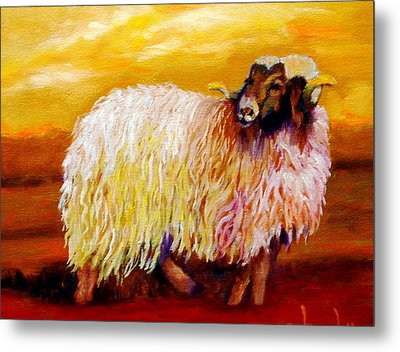 Woolly Metal Print
