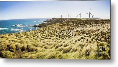 Woolnorth Wind Farm And Ocean Landscape Tasmania Metal Print by Jorgo Photography - Wall Art Gallery
