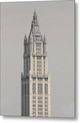 Woolworth  Black And White Two Metal Print by Christopher Kirby