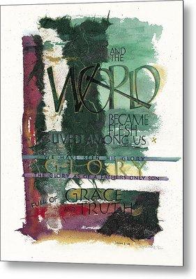 Word Metal Print by Judy Dodds