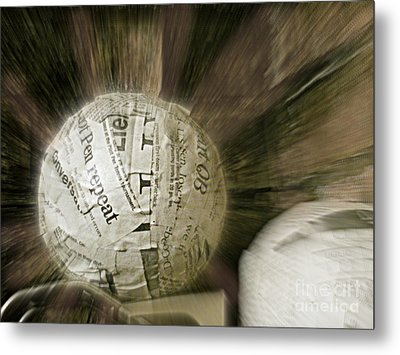 Metal Print featuring the photograph Word Shredder by Kristine Nora
