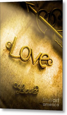 Words And Letters Of Love Metal Print by Jorgo Photography - Wall Art Gallery