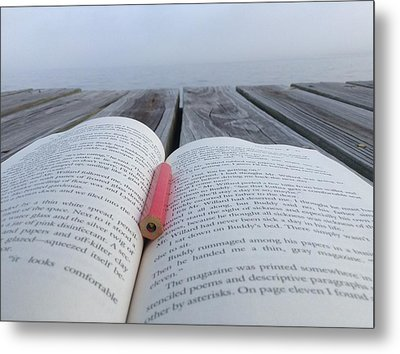 Words On The Dock Metal Print by Christin Brodie