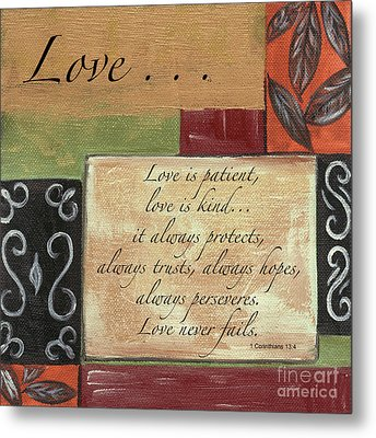 Words To Live By Love Metal Print by Debbie DeWitt