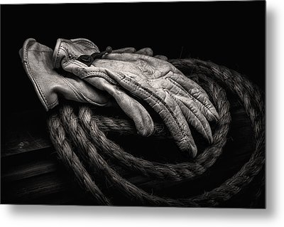 Work Gloves Still Life Metal Print by Tom Mc Nemar