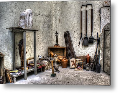 Metal Print featuring the photograph Work Room by Lynn Geoffroy