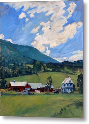 Working Farm Berkshires Metal Print by Thor Wickstrom