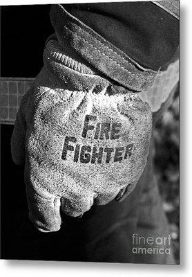 Working Gloves Metal Print