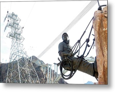 Working Man Metal Print