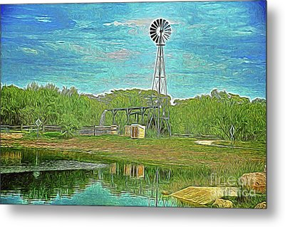 Metal Print featuring the photograph Working Windmill  by Ray Shrewsberry