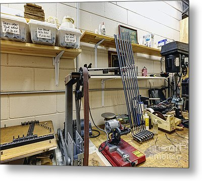 Workshop For Manufacturing Golf Clubs Metal Print by Skip Nall