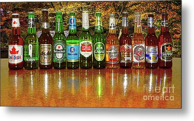 Metal Print featuring the photograph World Beers By Kaye Menner by Kaye Menner