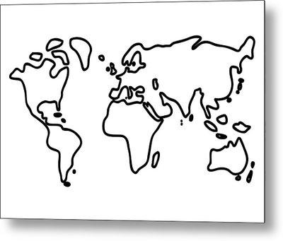 World Globe Metal Print by Lineamentum