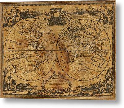 World Map 1788 Metal Print