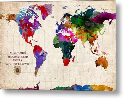 World Map Metal Print by Gary Grayson
